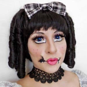 Jane Iredale doll halloween makeup