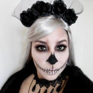 Jane Iredale skeleton halloween makeup