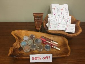 50% of Jane Iredale Makeup at bare aesthetics boutique Portland, OR
